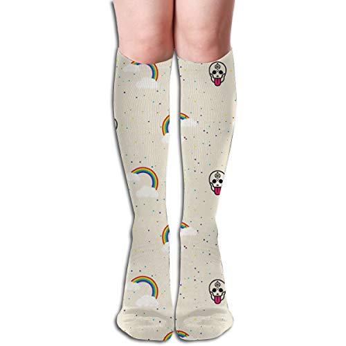ouyjian Lesbian Sign Glitter Casual Unisex Sock Knee Long High Socks Sport Athletic Crew Socks One Size