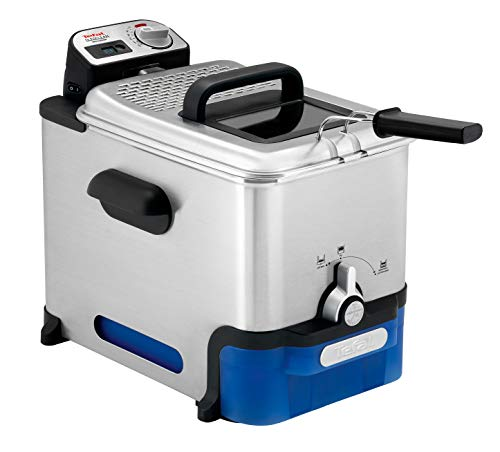 Tefal Oleoclean Pro FR804040 Semi-Professional Deep Fryer, Grey, Blue, 1.2kg, 6 portions