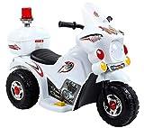 fit4form Kinder Elektro Trike Elektromotorrad 6V weiß Kindermotorrad Licht u. Topcase