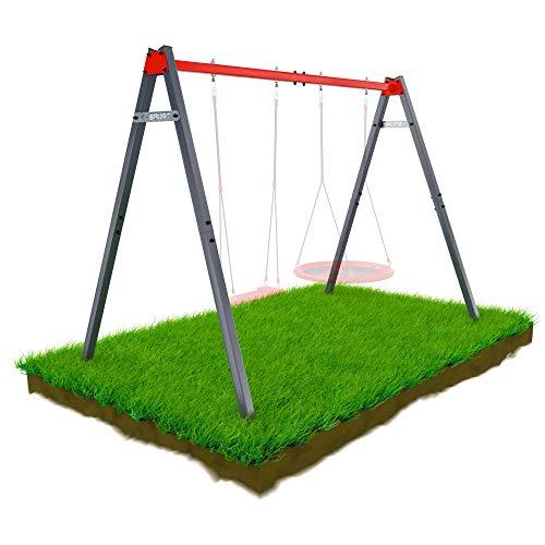 K-Sport: Columpio de jardín, estructura resistente a la intemperie para columpio, nido de cigüeña, hamaca, etc. Estructura de metal sin columpio para el jardín.