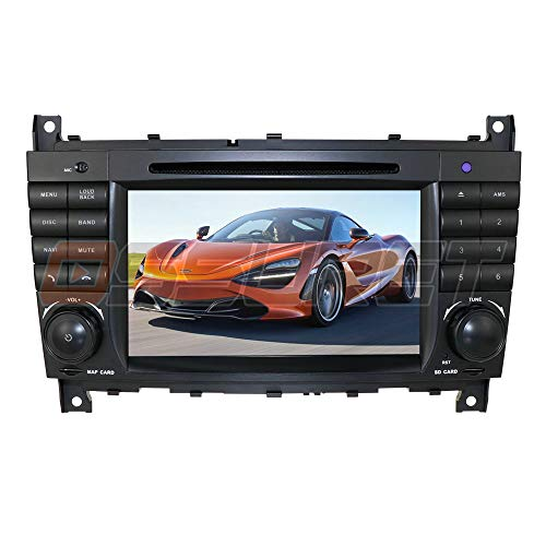 7 Inch Android 10 Car Stereo for Mercedes-Benz C-W209/ C-W203/ Viano/Vito/Vaneo/A-Class Supports Steering Wheel Control Bluetooth Radio Mirror-Link Car Navigation