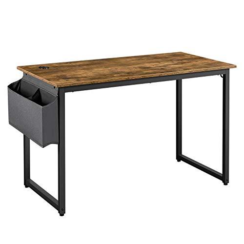 Yaheetech Computertisch Bürotisch Schreibtisch Tisch Metallrahmen Vintage 120 x 60 x 75 cm