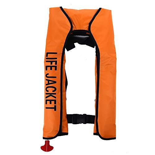 JUZIPI Rettungsweste Automatik 150N, Kayak Erwachsene Aufblasbare Schwimmweste, Zuverlässig für Den Wassersport,Schwimmen,Fahren, Surfen, Tauchen, Bootfahren, Kayaking, Canyoning