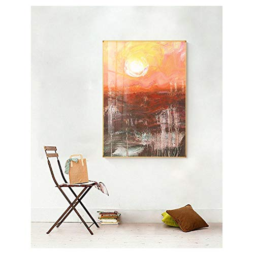 Abstracte kleur vlekken muur canvas schilderij creatieve monet stijl kunst foto's voor de woonkamer slaapkamer figuur poster en print / 50x70cm geen frame