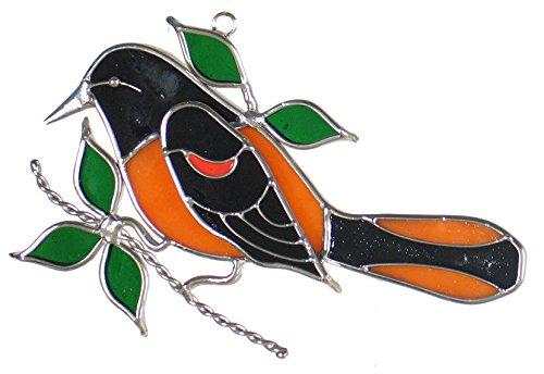 Oriole Bird Stained Glass Sun Catcher