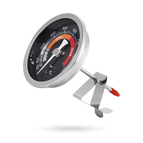 """Lenink Grill Thermometer Compatible with Big Green Egg,3.3"""" Large Face Temperature Gauge Replacement Compatible with Big Green Egg Accessories"""