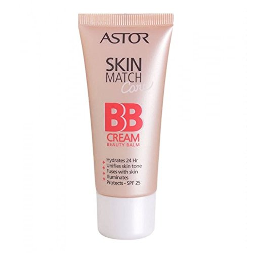 Astor SkinMatch Care BB Cream, Farbe 100 Ivory, 1er Pack (1 x 30 ml)