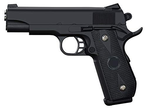Softair Pistole Voll Metall Rayline RV9 (Manuell Federdruck), Nachbau im Maßstab 1:1, Länge: 19,5cm, Gewicht: 400g, Kaliber: 6mm, Farbe: Schwarz - (unter 0,5 Joule - ab 14 Jahre)
