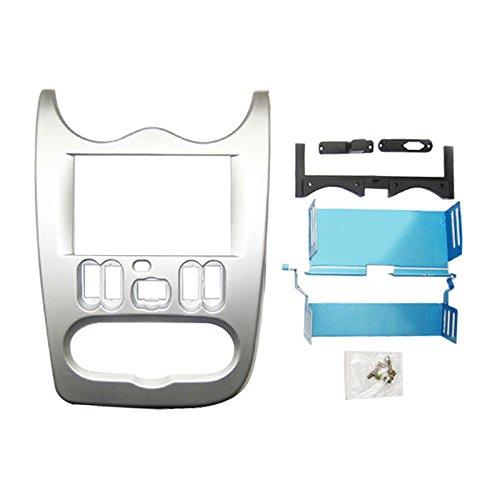 Feeldo de voiture 2 DIN stéréo Fascia plate Panel Cadre radio Dash Cadre Trim Kit de montage