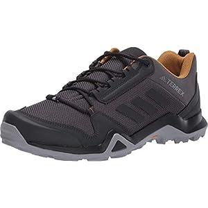 adidas outdoor Men's Terrex AX3 Hiking Shoe, Grey/Black/Mesa, 9