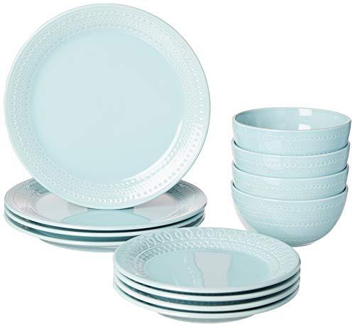 KATE SPADE 889114 Blue Willow Drive8482 12-Piece Dinnerware Set, 17.7 LB