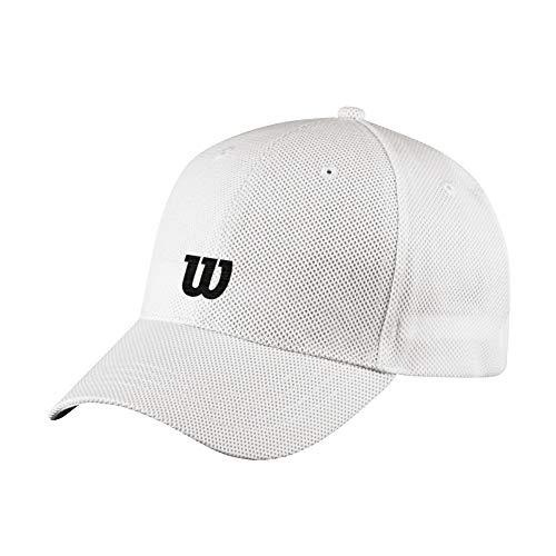Wilson LIGHT VISOR Visiera unisex, Poliestere/Spandex, Bianco, Taglia unica, WRA797703