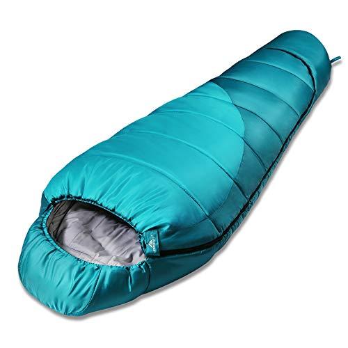 Forceatt Schlafsack, 3-4 Jahreszeiten Mumienschlafsack, Winterschlafsack ist Wasserdicht und reißfest,Produktgewicht ist 1.62kg,für Outdoor, Camping and Trekking