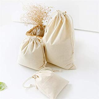 LiXiang666 5pcs Nature Color Drawstring Cotton Linen Storage Bag Gift Candy Tea Jewelry Organizer Makeup Cosmetic Coins keys Bags