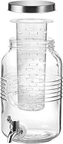 BERELA HOME – Tarro con Grifo Dispensador de Cristal de 3L. Dispensador