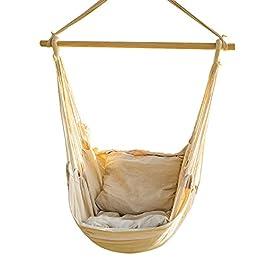 CCTRO Hamac suspendu en corde – Grand hamac brésilien – Pour jardin, chambre, terrasse, porche, intérieur et extérieur…