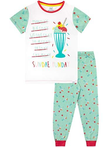 """¡A Harry Bear le encanta hacer pijamas para hibernar! Pijama de sundaes de helado de calidad Premium para niños Viene con el eslogan """"Sundae Funday"""" Fabricada con un ajuste cómodo, pretina elástica y mangas cortas. ¡El detalle final es un pequeño laz..."""