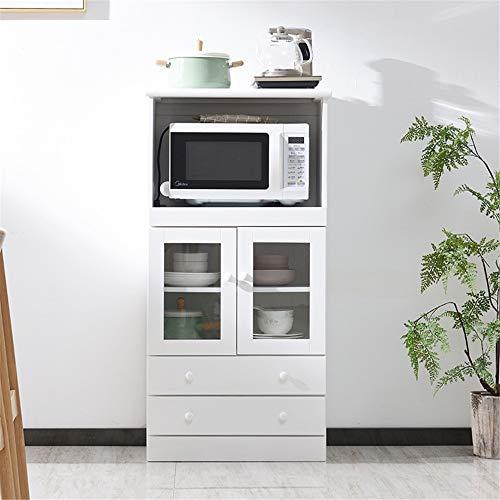 NgMik Muebles Modernos Pasillo Entrada Gabinete de Almacenamiento Microondas Cafetera Utilidad bufé Accent Entrada Bar Almacén de Cocina Aparador (Color : White, Size : 60x42x120cm)