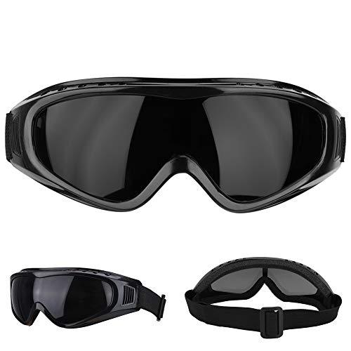 Gafas Safety Protective, Gafas Protectoras Moda Protección de los ojos contra salpicaduras, Gafas protectoras antideslizantes para el ejercicio diario, golf, motociclismo(Black Lens)