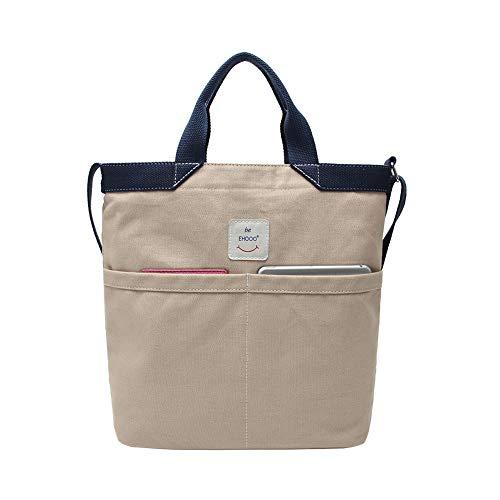 Gindoly Casual Canvas Tasche Handtasche Damen Vintage Umhängentasche Anti Diebstahl Tasche Hobo Tasche für Alltag Büro Schule Ausflug Einkauf