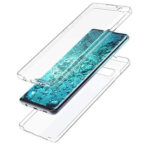 MOELECTRONIX Hülle passend für Huawei Y6 2018 Dual SIM ATU-L21 ATU-L22 | Komplettschutz Schutzhülle Tasche Schutz Case |360 Grad TPU Silikon Full Cover Transparent