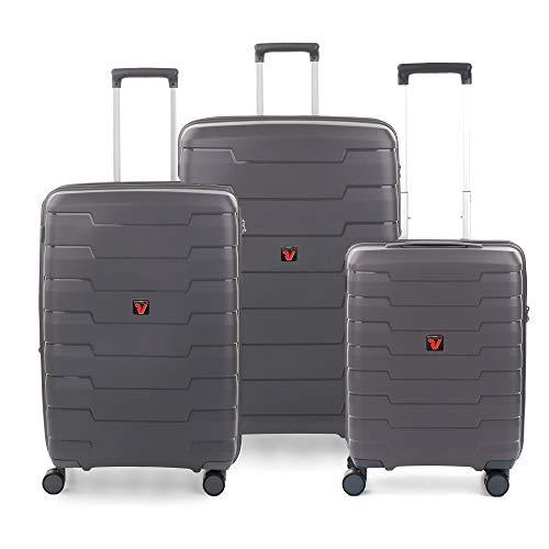 RONCATO Skyline - Juego de 3 maletas rígidas ampliables (L, medio + cabina) Antracita