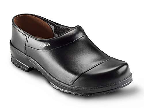 SIKA 2530 Comfort Clog - Breite Passform und Fußbett aus Holz - Schwarz - Gr. 44