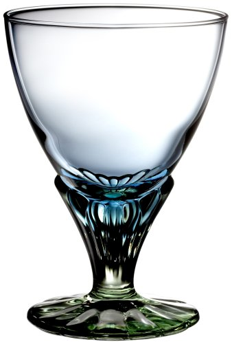 Bormioli Rocco 128440 Bahia Eisbecher, Eisschale, 350ml, Glas, blaugrün, 6 Stück