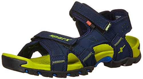 Sparx Men's SS0447G Navy Blue and Flourscent Green Athletic and Outdoor Sandals -9 UK/India (43 EU) (SS-447)