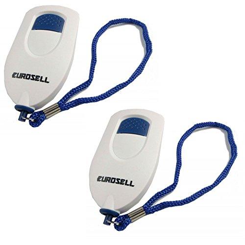 Eurosell 2 Stück Handtasche Sirene Panik Alarm Sicherheit Safety Button Personen Damen Kinder Herren Diebstahl Schutz Baby Senioren