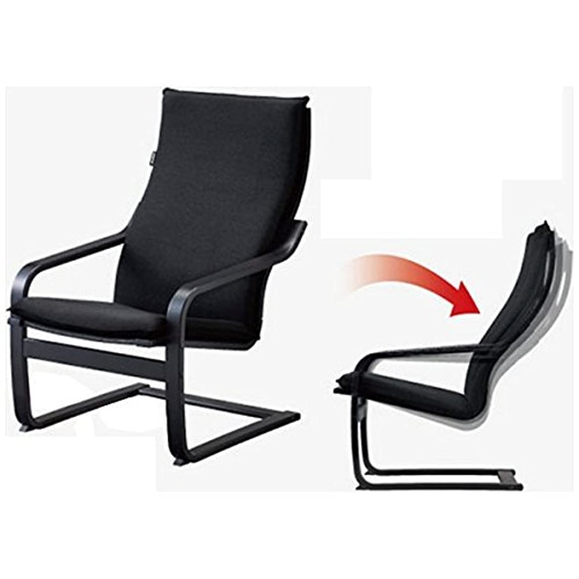 ランドリー視力レポートを書くフジ医療器 シートマッサージャー用チェア(ブラック)my relax(マイリラ) MRL-10C