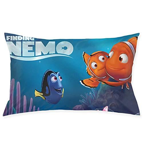 Finding-Nemo - Fundas de almohada para cabello y piel, suaves, antiarrugas y resistentes a las manchas, cierre de sobre estándar, 50,8 x 76,8 cm