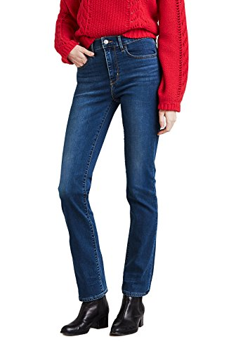 Preisvergleich Produktbild Levis Damen Jeans 724 HIGH Rise Straight 18883-0023 Blau,  Hosengröße:26 / 32