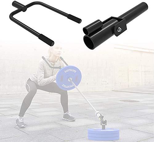 WSZYBAY T Bar Row Plattform Landmine Grappler und Stahl-Schulter-Push-Barbell Griff, Stäbe Tragbare Olympic Fitness-Trainer, für Kreuzheben Squat Trizeps-Übungen