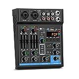 HBIN Audio Mixer 4 Channels...