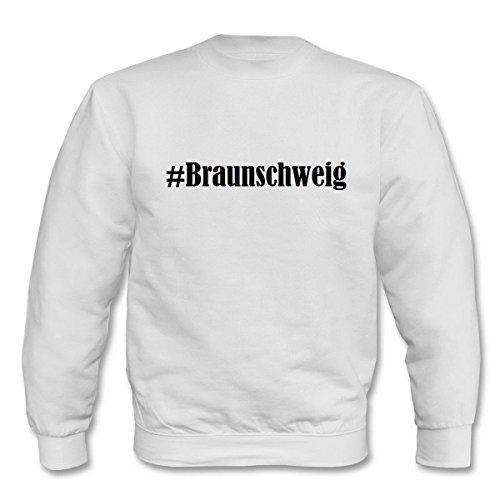 Reifen-Markt Sweatshirt #Braunschweig Größe S Farbe Weiss Druck Schwarz