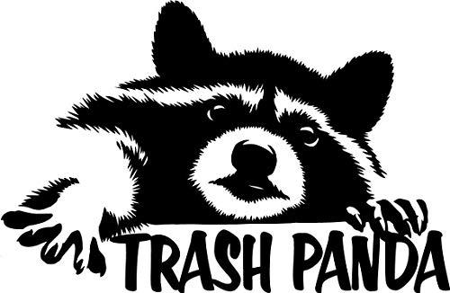 TGS Topshop Raccoon Trash Panda Decal Window Bumper Sticker Car Funny Cute Wildlife Animals Car Stickers 15cm