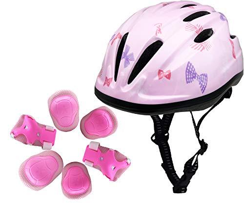 Buy Discount BeBeFun Pink Girl Toddler and Kids Multi-Sport Bike Super Lightweight Helmet (Bowknot&P...