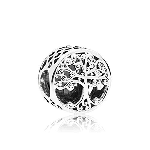 Abalorio Árbol de la Vida, Plata de Ley 925 con *Caja Regalo* Compatible con Pulsera Pandora & Europeo, Charms para Mujer Niña