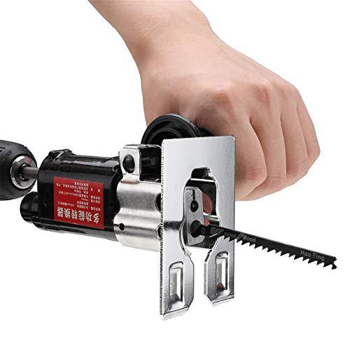 Accesorio multifunción para sierra de vaivén para cambiar taladro eléctrico en sierra...