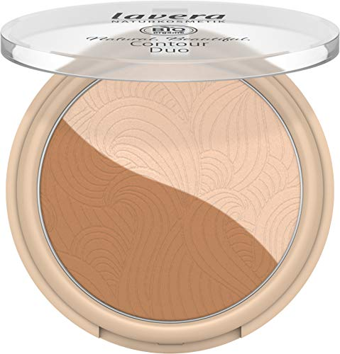lavera Natural Beautiful Contour Duo Highlighter und Kontur, Light Nude 01