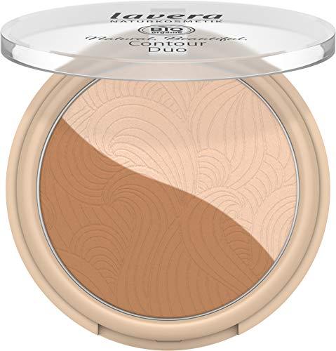 lavera Natural Beautiful Contour Duo -Light Nude 01- / Highlighter und Kontur in einem Produkt/Bio Inhaltsstoffe/vegan/zertifizierte Naurkosmetik/natürlich & innovativ / 1 Stück
