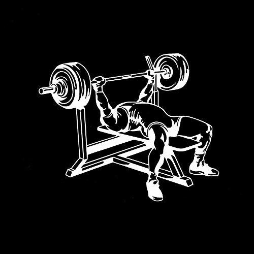 2Pcs/Pegatina Para Capo De Coche Hombre Elegante Fitness Entrenamiento Halterofilia Etiquetas Engomadas Del Coche Diversión Calcomanías De Vinilo Reflectantes 15.1 * 12.4Cm