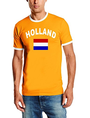Holland T-Shirt Ringer Orange, Gr.M