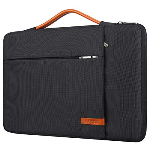Lacdo 360° Protective 11 Inch Chromebook Case Handle Laptop Sleeve for 11.6 inch Samsung HP Stream / Acer Chromebook R 11 / ASUS C202 / MacBook Air 11.6 inch, Surface Pro X 7 6, C330 2-in-1 Bag, Black