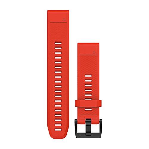 Garmin Pulsera de Silicona QuickFit, Rojo, 22 mm