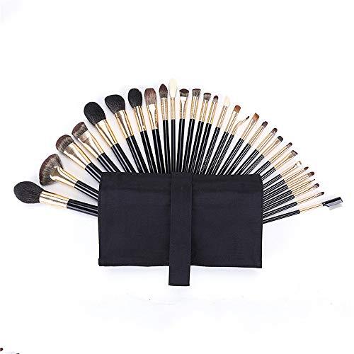JIAGU Kit cosmétique Professionnel 30 Super Soft Poils d'un Animal Laine Imitation ébène Poignée Pinceau à lèvres Maquillage Pinceau Doux Cheveux Beauté Kit d'outils (Color : Black, Size : One Size)