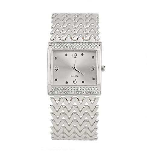 Warm Home 2 stuks moderne eenvoud casual vierkant diamant kwarts polshorloge