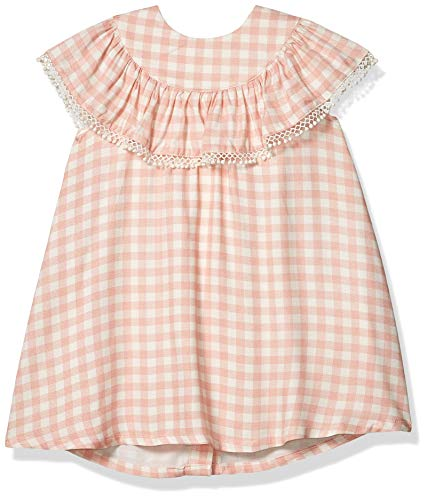 Jessica Simpson Girls' Fit and Flare, Checked Rosette, 3T