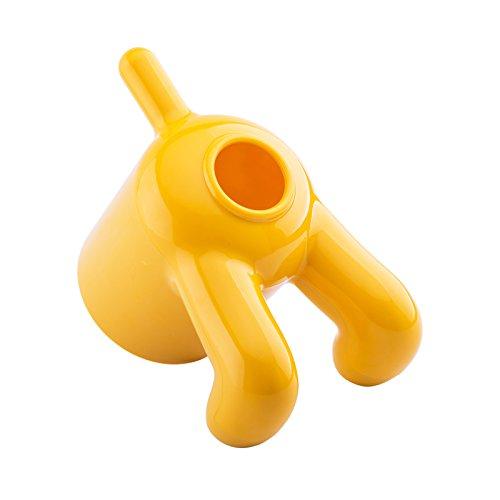 Witziger Toilettenpapierrollenbezug und Papiertuchspender in Form eines Hundes mit selbstklebendem Klebeband, einfache Installation gelb